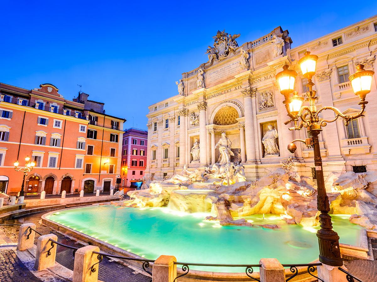 Trevi Fountain in Rome center