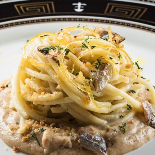 Spaghetti con le alici ristorante Bracali