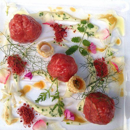 Tartare di carne Chianina ristorante Bracali